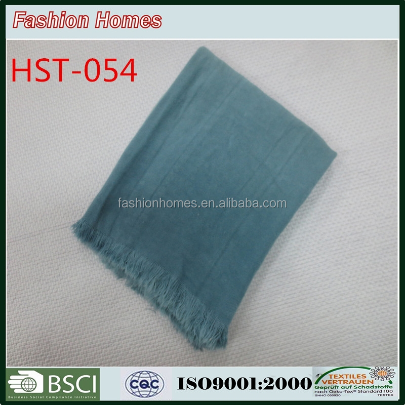fashion knitted acrylic throw for decorate