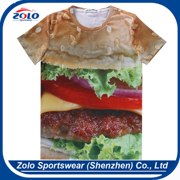 Professional custom low price 3d funny sublimation t-shirt