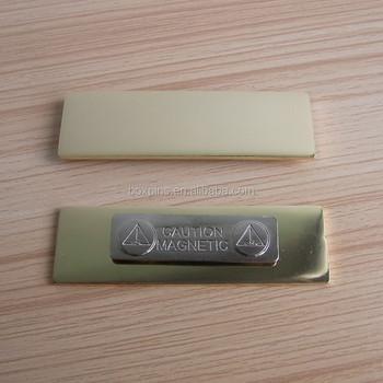 Rectangle Blank Magnetic Name Badge - Buy Blank Reusable Name Badges,Blank  Name Badge With Magnetic Back,Name Tag/nameplate/name Badge With Magnet