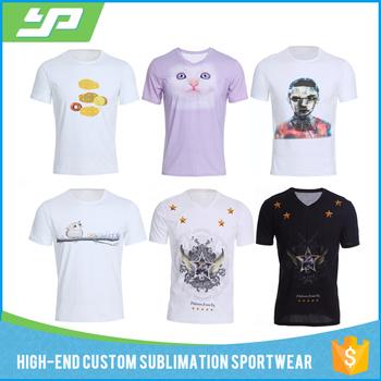 Custom sublimation print tshirt 100 cotton digital for Custom t shirt digital printing
