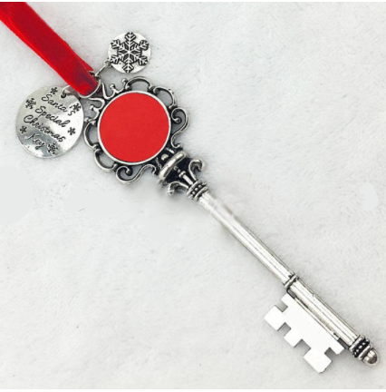 Monogrammed Santa Magic Key