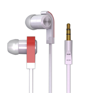 Fashion Design fluorescence earphone with mic Metal Stereo Earphone wired headphones