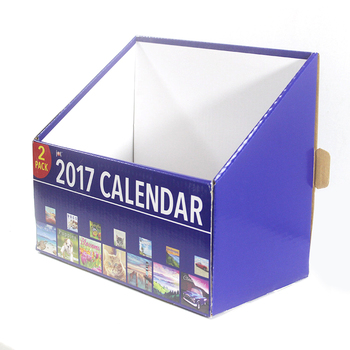 2 pack calendar packaging corrugated display folding box