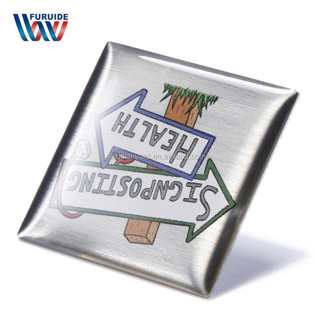 Zhongshan produzione su misura di disegno di figura rotonda di metallo spilla