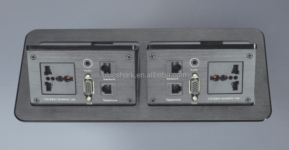 Office table hidden desk power socket outlet