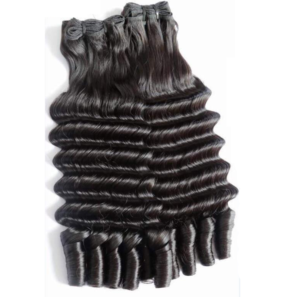 Double Drawn 100% Raw <strong>Human</strong> Weave Magical Curly Indian <strong>Human</strong> Hair Cuticle Aligned Hair