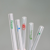 Custom logo high borosilicate straw glass drinking straw pyrex glass straw with cleaning brush