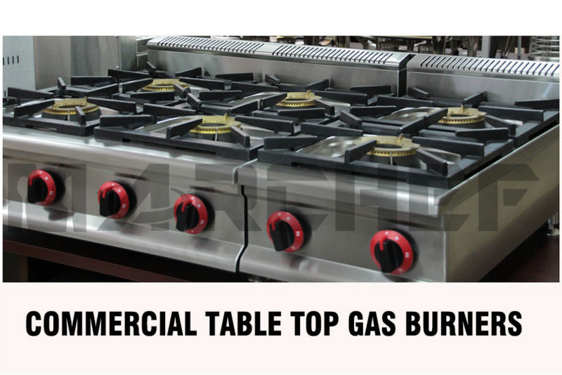 Restaurant Kitchen Gas Stove 8 burners free standing type commercial kitchen restaurant