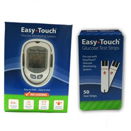 Easy Touch Glucose Monitor Kit Combo (Meter Kit and Test Strips 50ct)