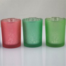 flower glass candle holders/glass candle containers