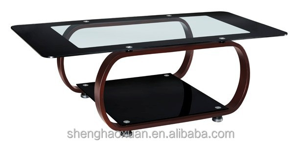 New arrival modern design glass center table wooden tea for Furniture tipoi design