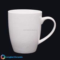 340cc drum shape ceramic cheap plain white coffee mug