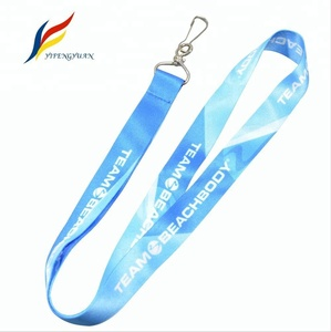 Polyester Custom Logo Sublimation Pantone School Lanyard Badge Holder