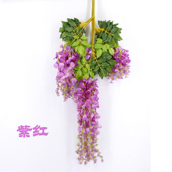 Fake Hanging White Artificial Grass Flowers For Table Centerpieces And Wedding Flower Arch Decorations