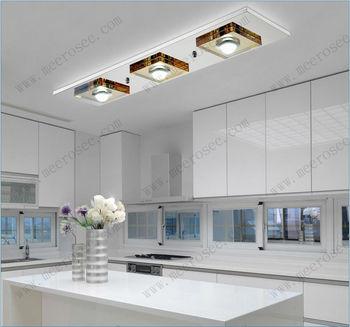 Modern Led Ceiling Light Fixture Flush Mounted Square Glass Led ...