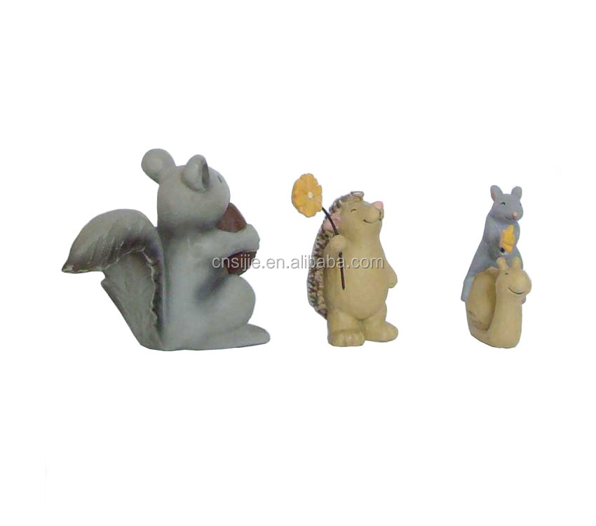 Small animal resin statue polyresin crafts