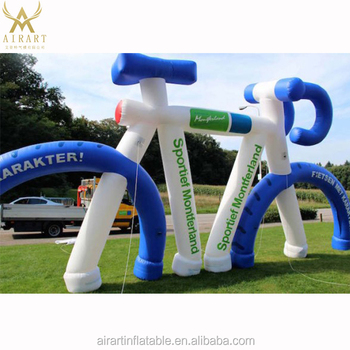 Giant Race Inflatable Bicycle/inflatable Bike Balloon For Advertising - Buy  Sports Game Bicycle Inflatable Replica,Customize Hot Sale Advertising