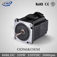 86mm 800w 48V 3000rpm bldc motor, brushless dc motor speed control