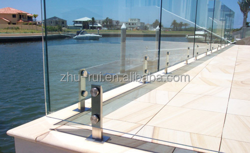 Round Aluminum Glass Clamp Rack/post For Holding Glass Handrail ...