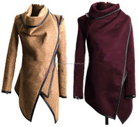 Shipping Online Wholesale ladies winter coats Long Duster Ladies French Trench Coat 3XL plus size 5 Colors Women Winter