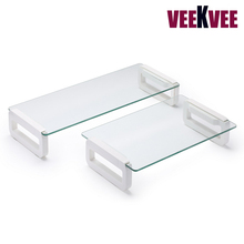 High strong tempered glass monitor stand laptop holder for LCD and notebook