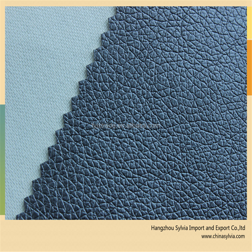 100% Artificial Embossing Synthetic PU Leather for Sofa