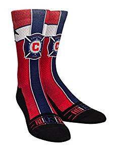MLS Chicago Fire Custom Athletic Crew Socks, Youth, Jersey Series