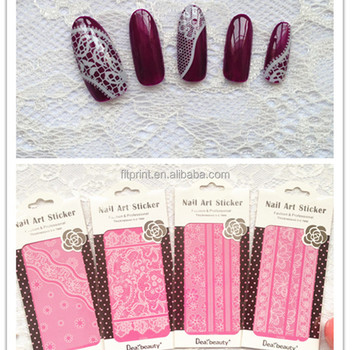 White Lace Nail Sticker Dearbeauty Art Custom Accessory Fashion Design