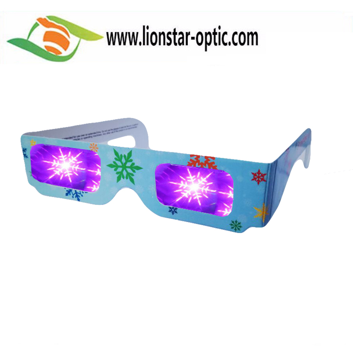 Promotion Gift of Party Festival Celebrate Paper Diffraction 3D Glasses Fireworks Glasses
