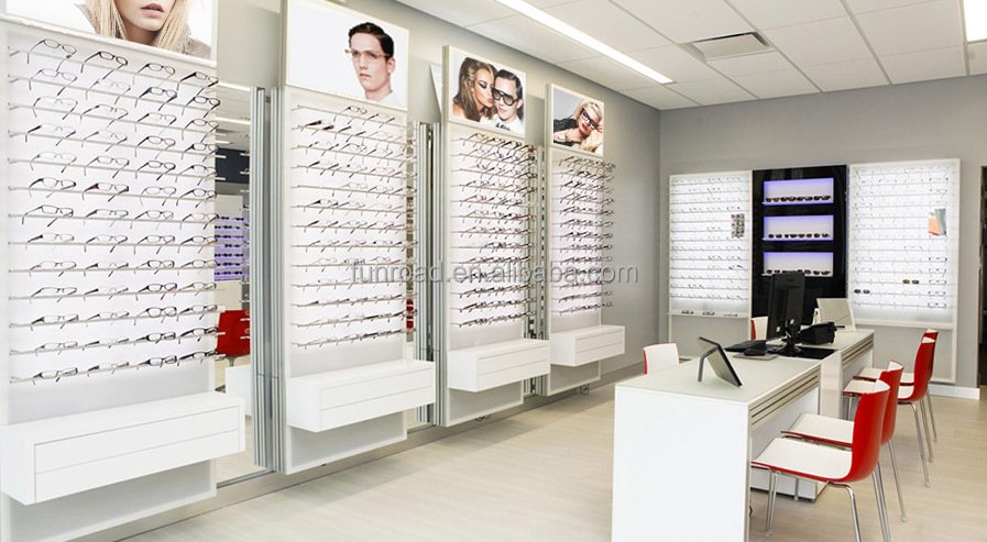 Chinese Factory Optical Retail Wooden Display Rack With