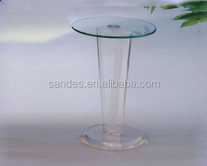 Costom Pure Unique Simple Perspex Clear Acrylic Innovations Small Cocktail Table