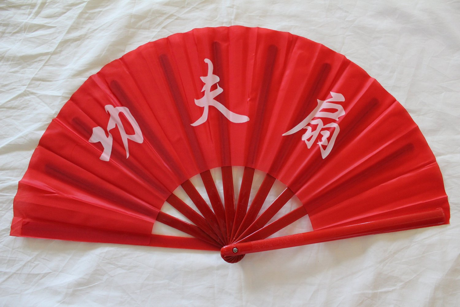 Oriental Chinese Kung Fu/Tai Chi/Dance/Practice Performance Hand Folding Fan RED