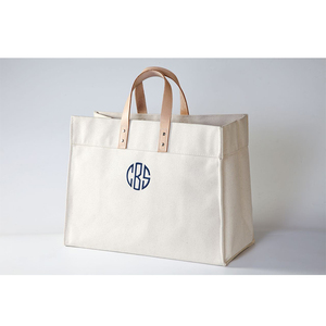 Fashion custom logo printed shopper tote canvas cotton shoulder bag with pu leather handles and bottom