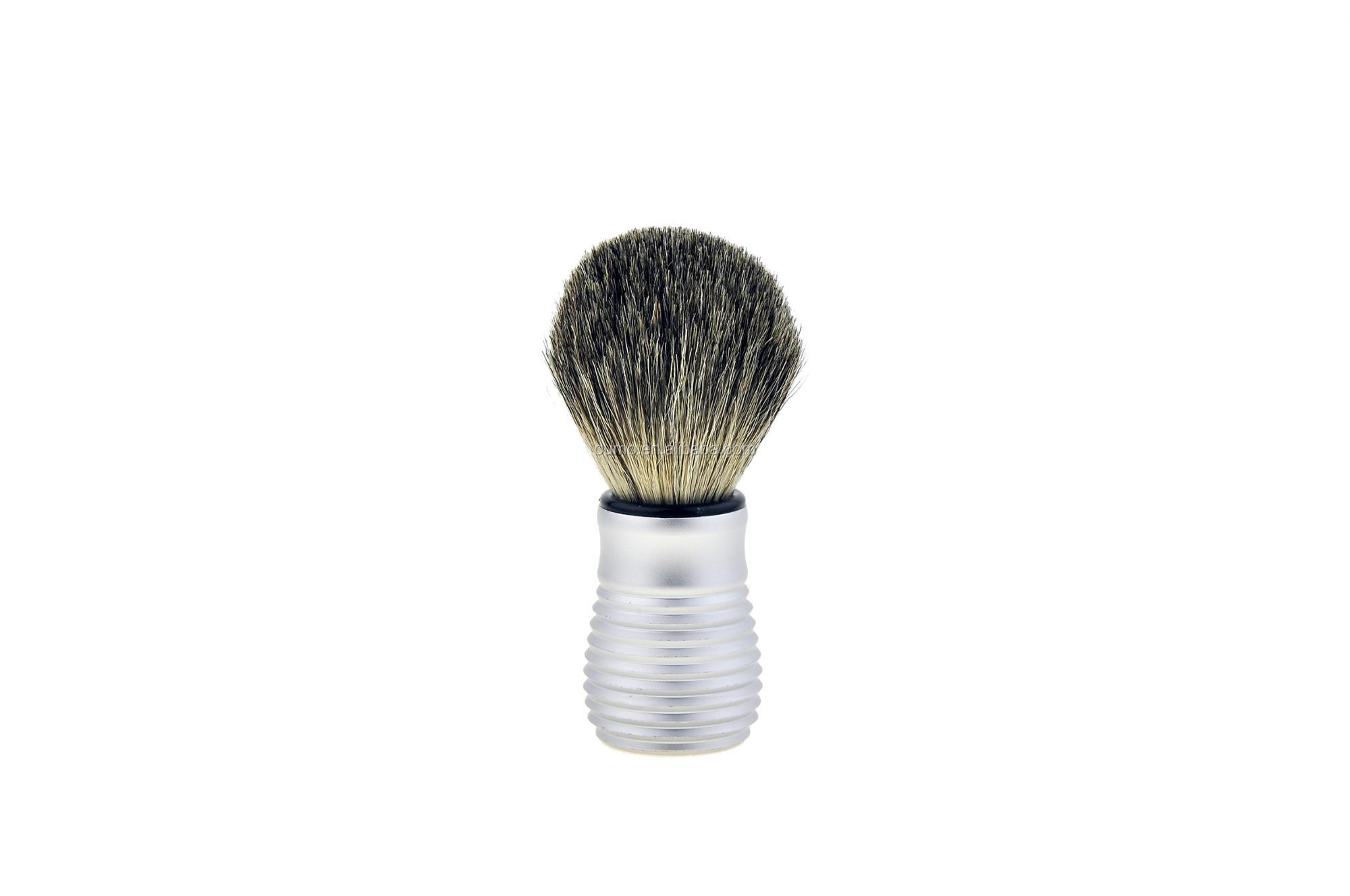 OUMO--high quality boar bristle hair shaving brush with aluminum handle accept to custom logo