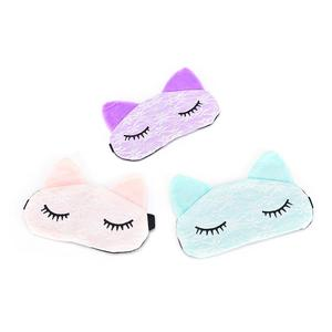 Free Shipping Cartoon Lace Eyeshade Sleeping Mask Cover Microfiber Eye Eyepatch Blindfolds To Shield The Light Cute Cat Eye Mask