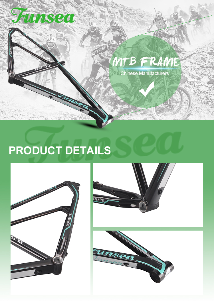 2019 wholesale customized profession manufacturer Alloy 6061# 27.5 weped carbon mountain bike frame spare parts bicycle frame