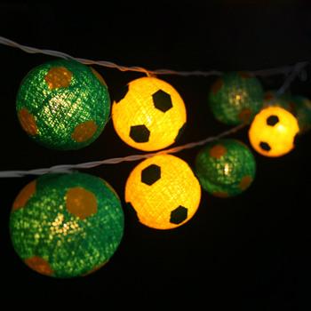 katoenen ballen voetbal lichtslingersfeelamp met de hand gemaakt voor thuispatio