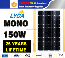 High Efficiency New-Tech Best price panel solar 150w mono solar panel 130w 140w 150w 160w off grid panel solar system