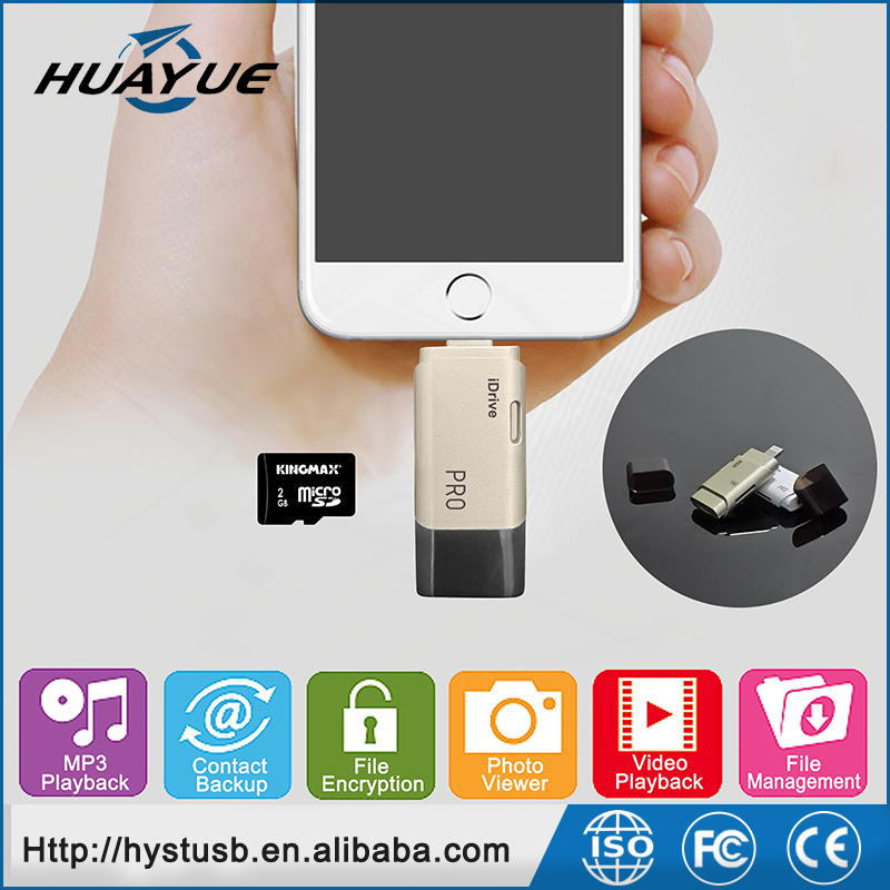 Smartphone Accessories .OTG 2.0 card reader, phone capacity expansion USB Flash Drive