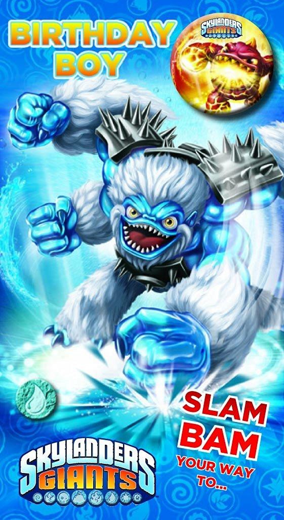 Buy Skylanders Giants Birthday Card With Badge Happy Birthday Son