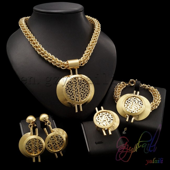 gold allah wholesale pendant pin islam necklace sets muslim plated jewelry jewellery arabic charms lot