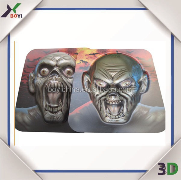 China Factry 3D Embossed Plastic Party Horror Mask/Halloween/Carnival/Christmas