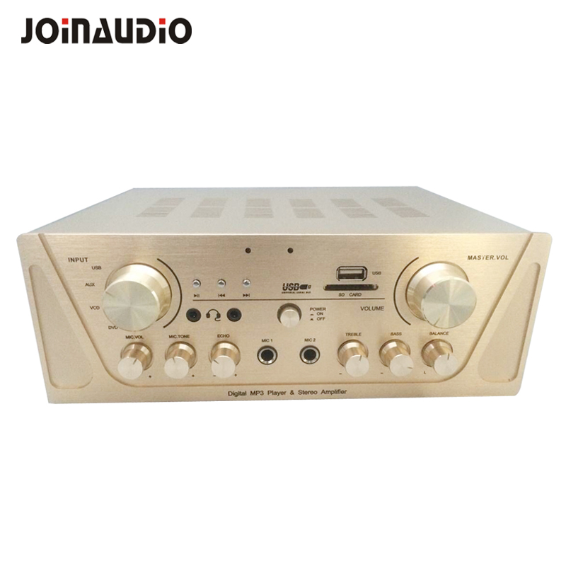 2 Channel Compact Stereo Mixer amplifier with Mp3 integrated amp for shop/cafe/small environment audio system