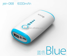 Fashion Rechargeable 6000mAh Charger Power Bank / USB Micro/30-Pin Cable For Various Cell Phones