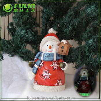 standing lighted indoor snowman sculpture for holiday time christmas decorations