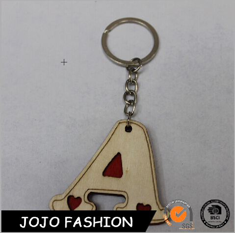 Hot sale type custom letter A shape keyring metal alphabet keychain
