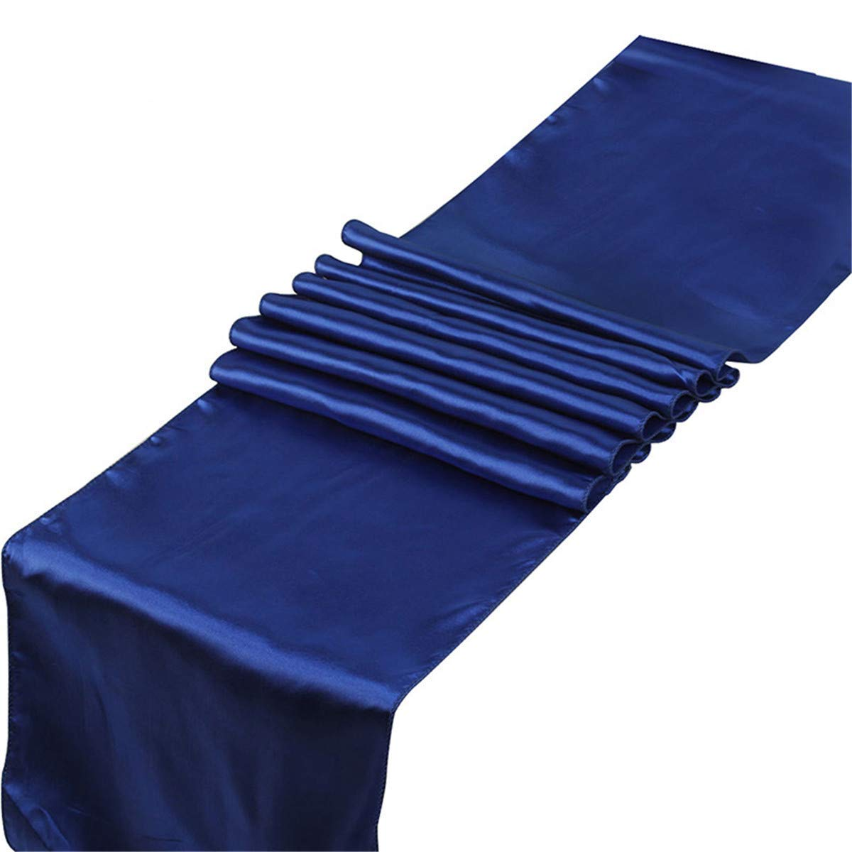 ECYC 1 Piece Satin Table Runner 12 x 108 inch for Wedding Party Festival Decoration, Royal Blue