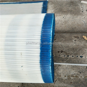 gluing Spiral Polyester Wire Mesh Conveyor Belt for food making system