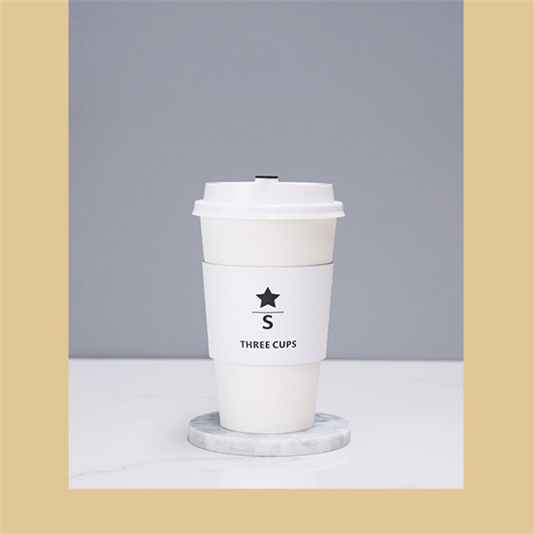 Cheap disposable black paper cup sleevs with custom logo