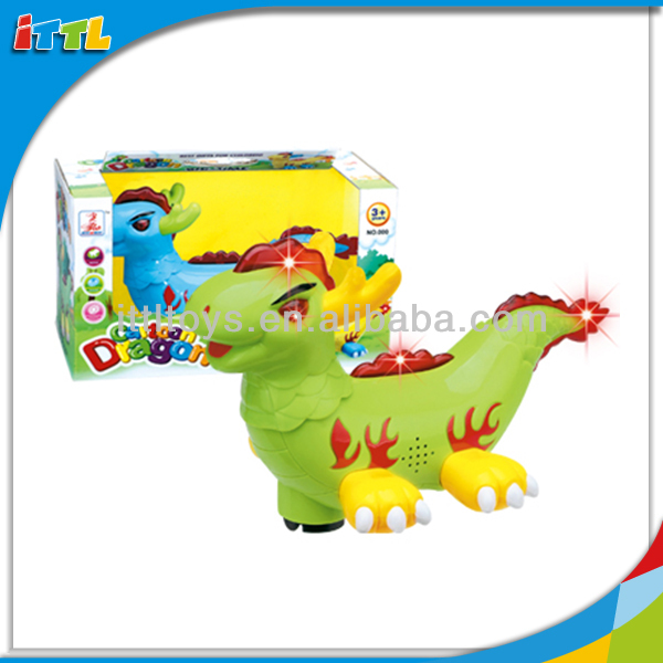 A215265 Electric Plastic Cartoon Mini Dragon Toy with Light and Music